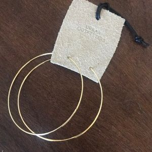 Urban outfitters large gold hoops NWT